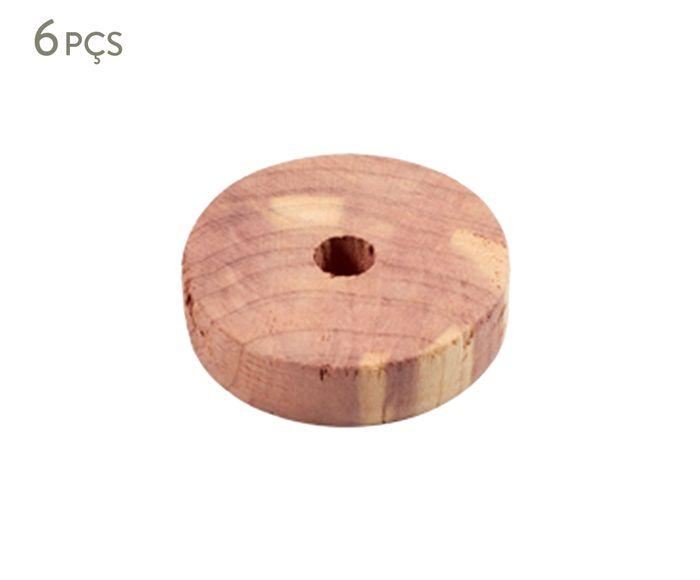 Jogo de Anéis de Cedro Oikos - 4cm   Westwing.com.br
