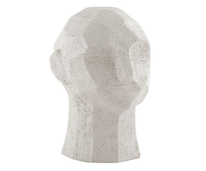 Adorno Face Cabeça Branco - 13X17,5X13cm | Westwing.com.br