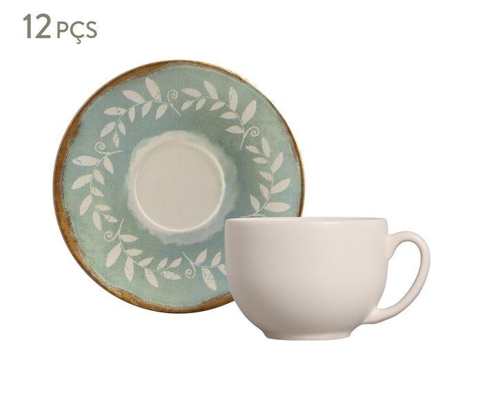 Jogo de Xícaras para Chá com Pires Coup Mediterrâneo - 260ml | Westwing.com.br