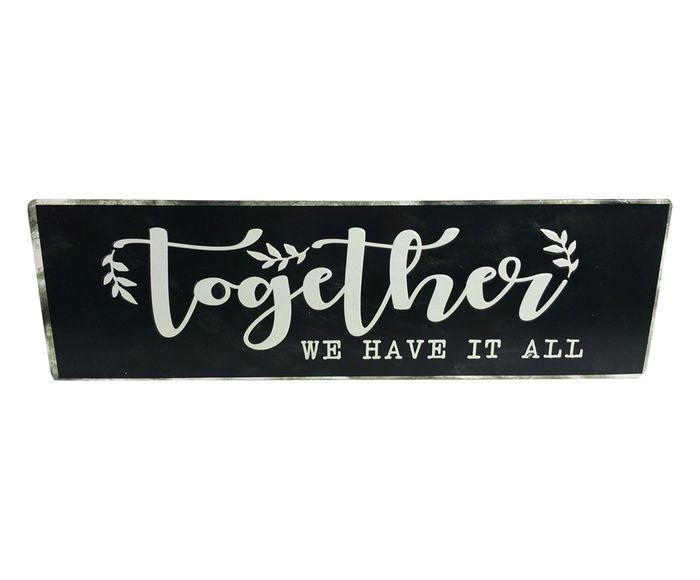 Placa Decorativa Together - 49X15cm | Westwing.com.br