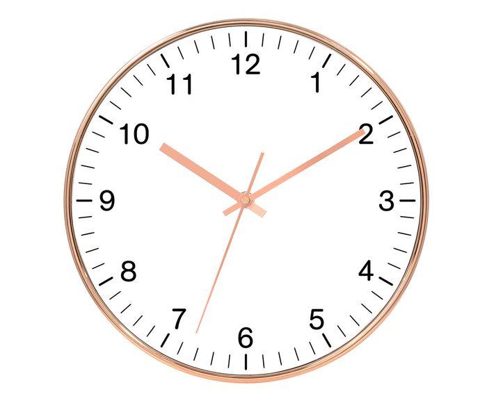Relógio de Parede Centa Branco - 25cm   Westwing.com.br