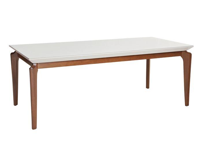 Mesa de Jantar Lauren Branca Gloss - 210X78,2cm | Westwing.com.br