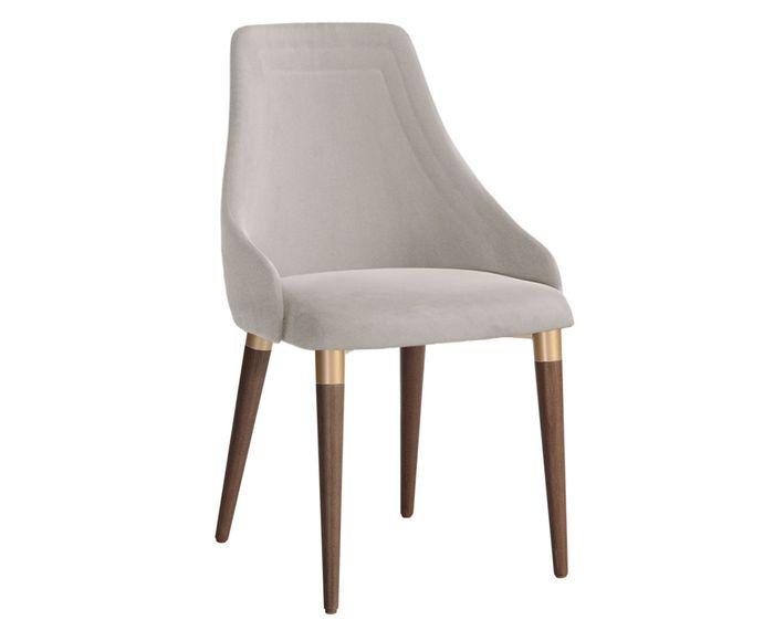 Cadeira Evelyn Ta Cinza Claro e Dourado - 54X92X47cm | Westwing.com.br