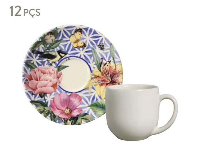 Jogo de Xícaras para Café com Pires Coup Garden - 112ml   Westwing.com.br