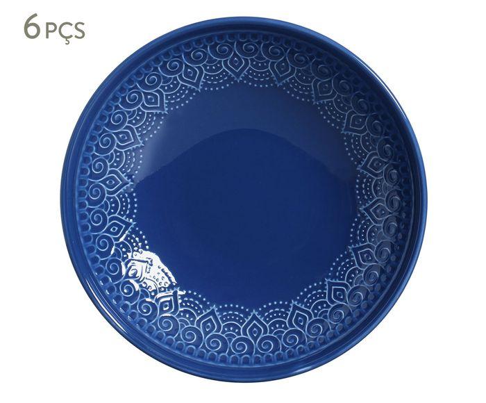 Jogo de Pratos Fundos Agra Azul - 21,5cm | Westwing.com.br