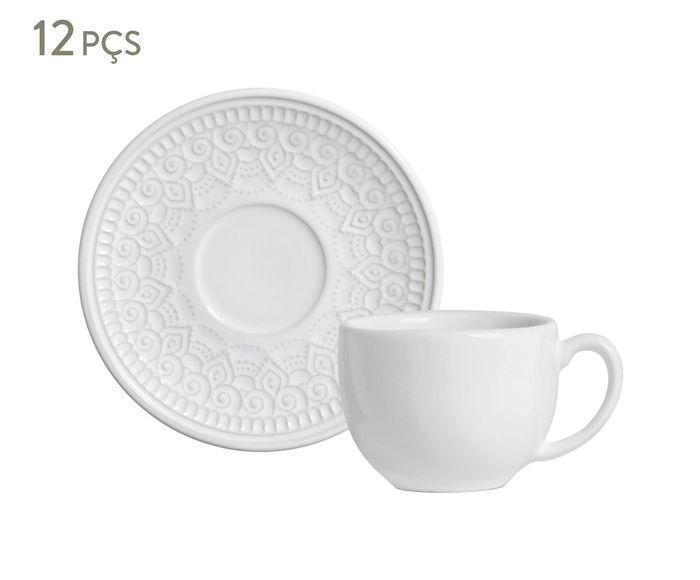 Jogo de Xícaras para Chá com Pires Agra Branco - 260ml | Westwing.com.br