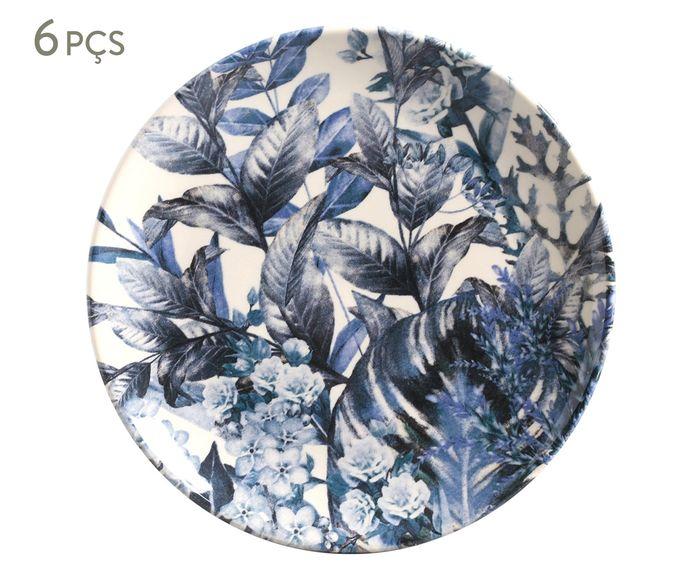 Jogo de Pratos para Sobremesa Coup Blue Garden - 20cm | Westwing.com.br