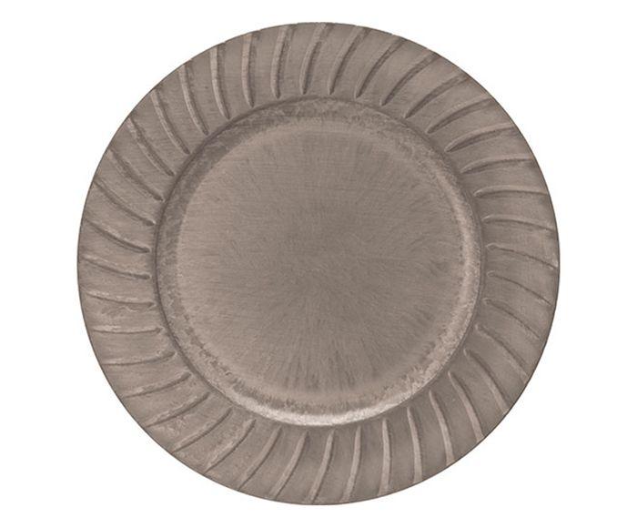 Sousplat Dórico Taupe - 33cm | Westwing.com.br