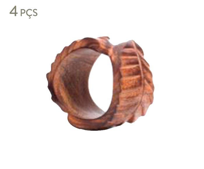Jogo de Anéis para Guardanapo Leaf   Westwing.com.br