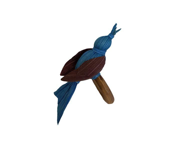 Anel para Guardanapo Pássaro Palha Azul - 6cm | Westwing.com.br