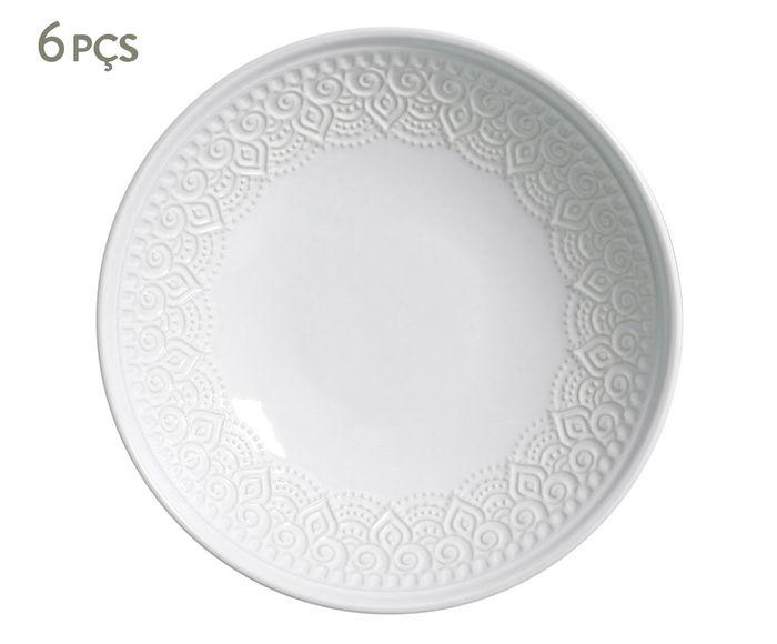 Jogo de Pratos Fundos Agra Branco - 21,5cm | Westwing.com.br