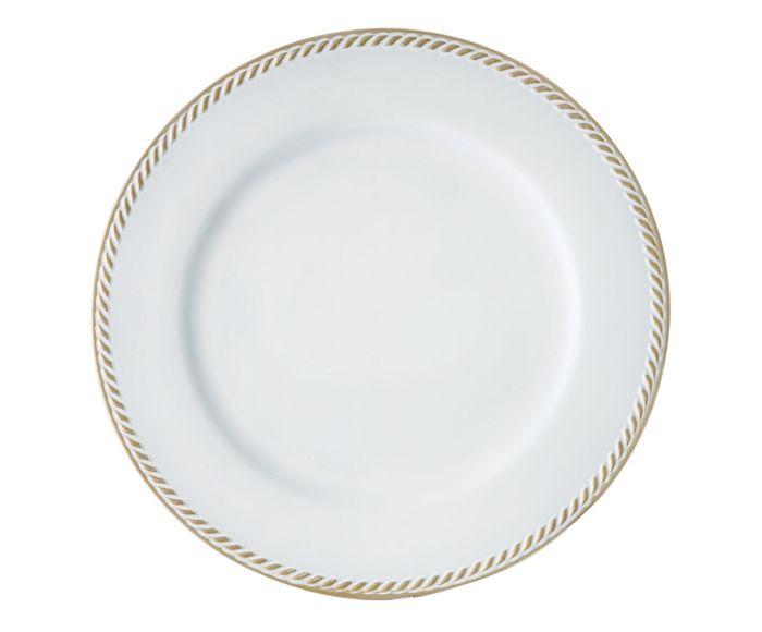 Sousplat Requinte Branco e Dourado - 33cm | Westwing.com.br