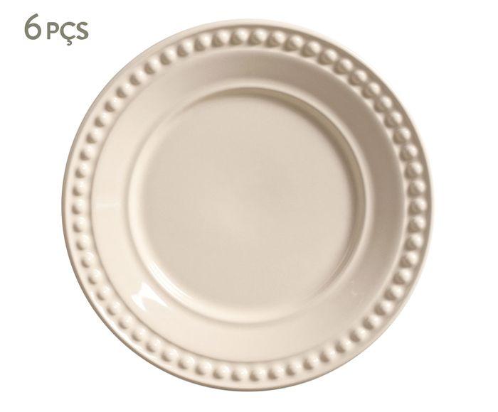 Jogo de Pratos para Sobremesa Atenas Cru - 20cm | Westwing.com.br