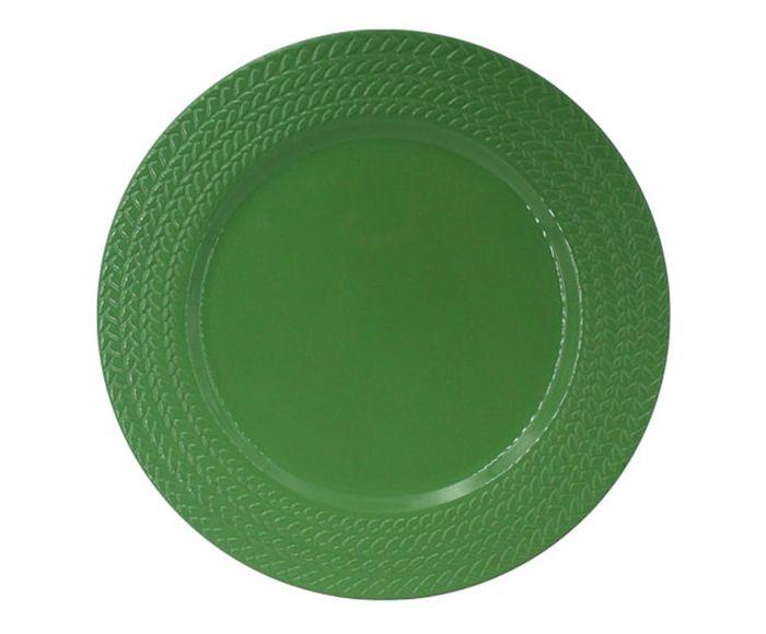 Sousplat Tranca Verde - 32,5X1,5X32,5cm | Westwing.com.br