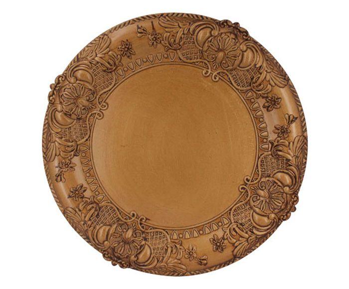 Sousplat Moldura Bronze - 35X2X35cm | Westwing.com.br