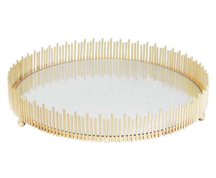 Bandeja Decorativa Marten Dourada - 7X39cm   Westwing.com.br