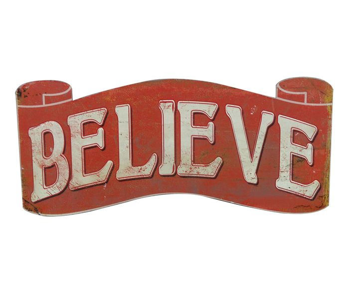 Placa Decorativa Believe - 43X16X0,6cm | Westwing.com.br