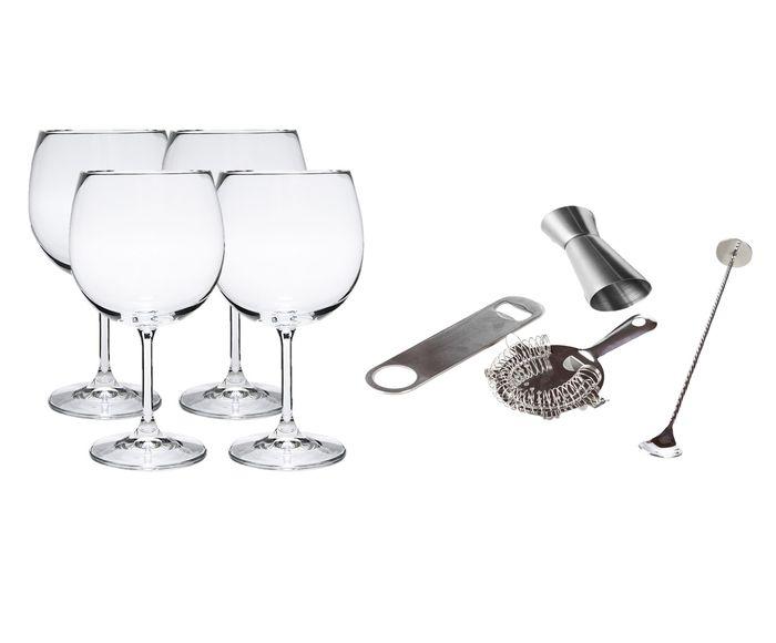 Jogo para Preparo de Gin em Cristal O Bar em Casa | Westwing.com.br