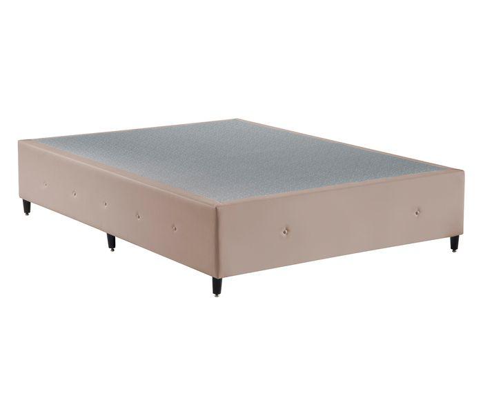 Cama Box Design Bege, Casal - 138X33X188cm   Westwing.com.br