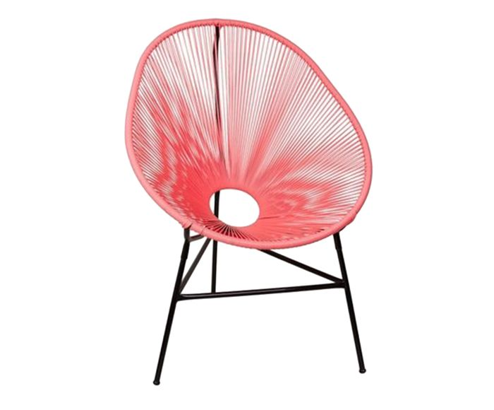 Cadeira Acapulco Living Coral - 85X90X45cm | Westwing.com.br