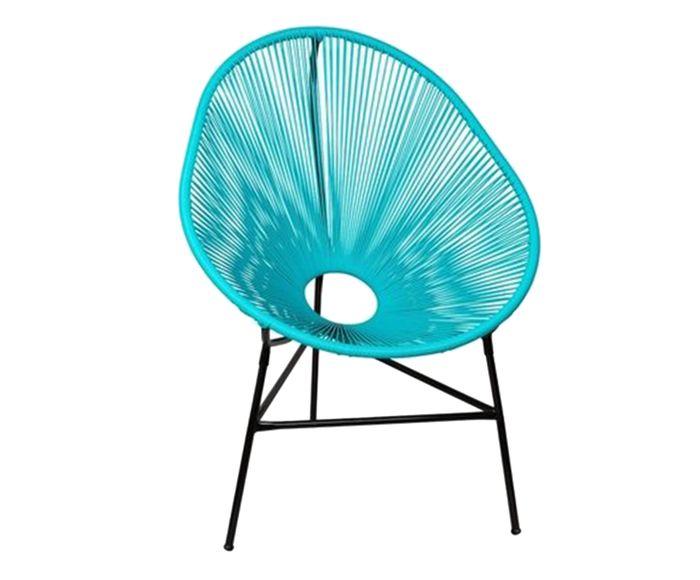 Cadeira Acapulco Azul Tiffany - 85X90X45cm   Westwing.com.br