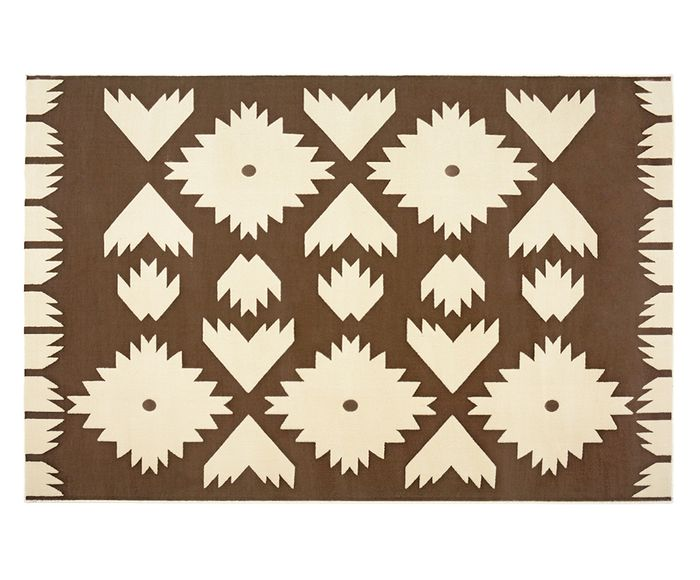 Tapete Trendy Folk Chocolate - 100X150cm | Westwing.com.br