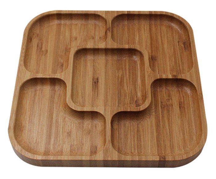 Petisqueira Quadrada em Bambu - 20X1,6X20cm | Westwing.com.br