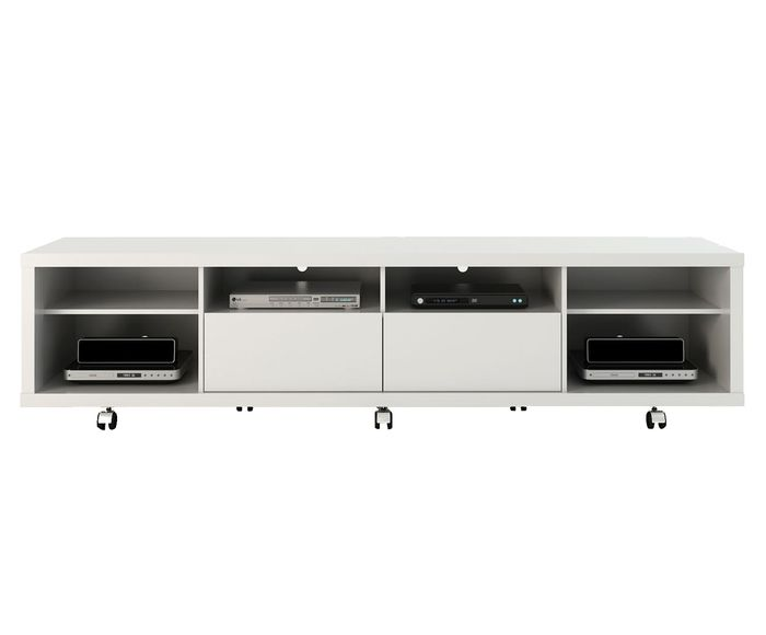 Rack Horizon Branco Gloss - 217X53X44,5cm | Westwing.com.br