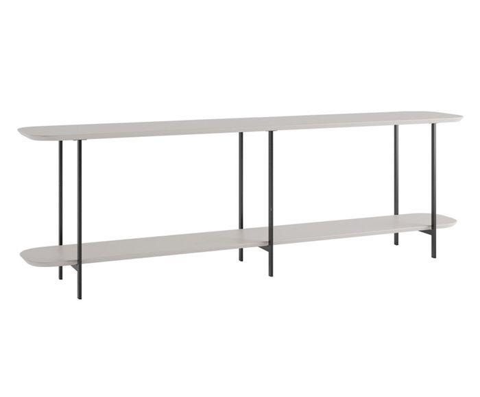 Sofá Table Iron Off White Fosco - 180X57,5X35,5cm   Westwing.com.br