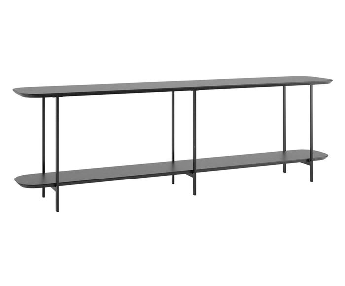 Sofá Table Iron Preto Touch - 90X57,5X35,5cm | Westwing.com.br