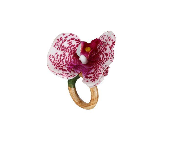 Anel para Guardanapo Orquídea Une Branca e Rosa - 9X7cm | Westwing.com.br