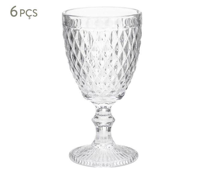 Jogo de Taças para Vinho Bico de Abacaxi Transparente - 210ml | Westwing.com.br