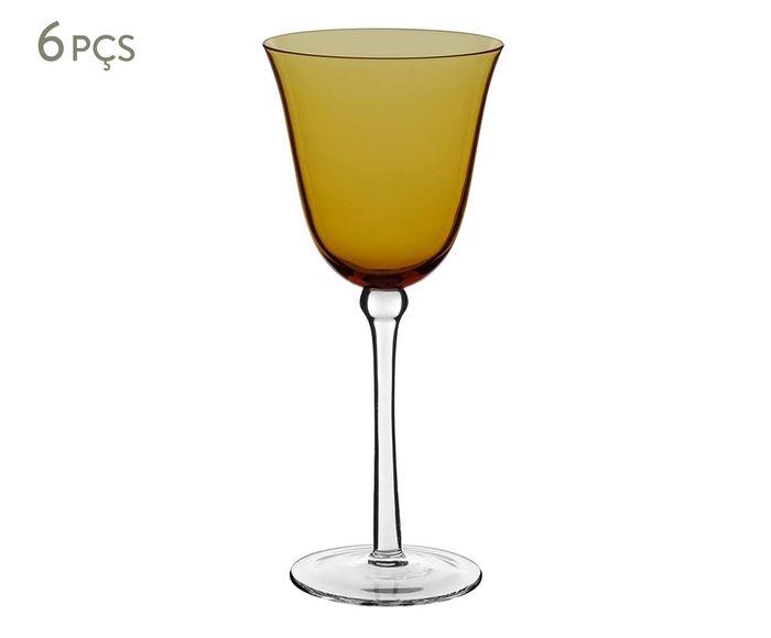 Jogo de Taças para Vinho Home&Co Cibele Âmbar - 210ml   Westwing.com.br