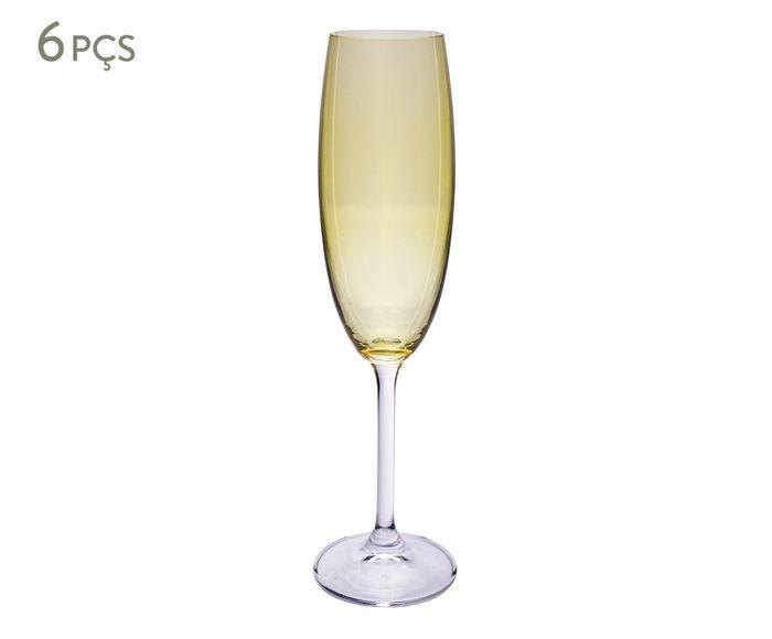 Jogo de Taças para Champagne Gatro Amarelo - 220ml | Westwing.com.br
