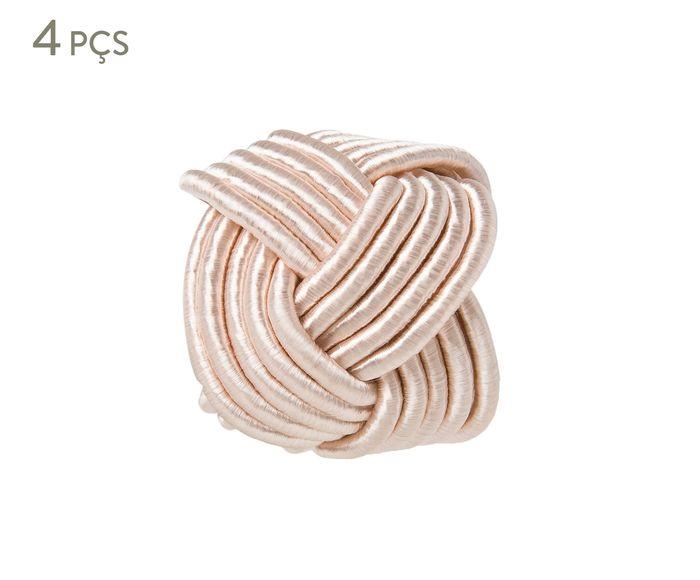 Jogo de Anéis para Guardanapo Traccia Rosa Chá - 6cm | Westwing.com.br