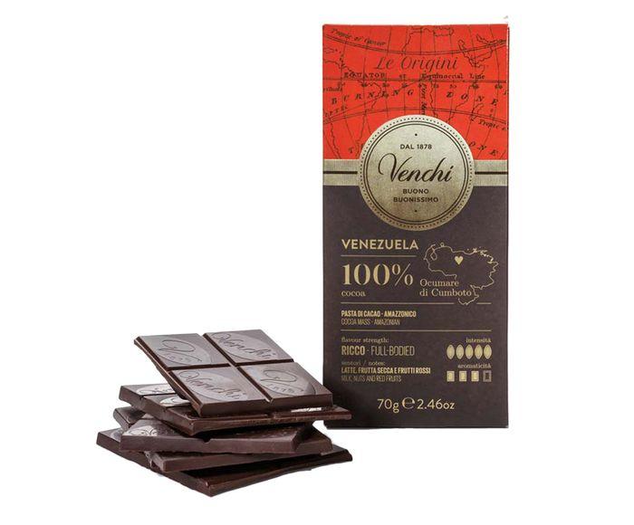 Barra de Chocolate com 100% Cacau Venezuela - 70G | Westwing.com.br
