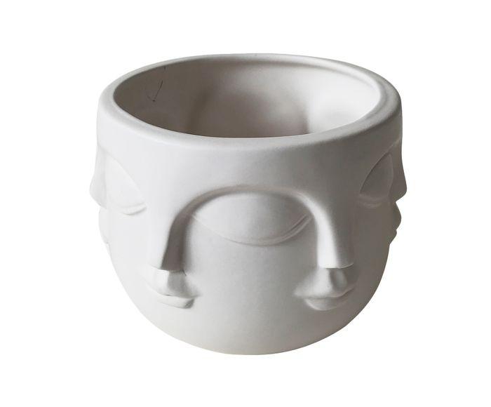 Cachepot Gesichter Branco - 12,4X11,4X9cm   Westwing.com.br