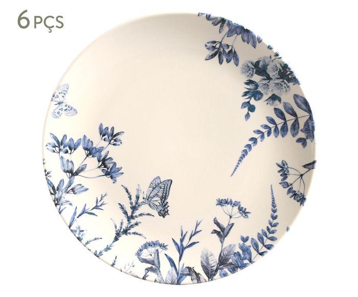 Jogo de Pratos Rasos Coup Blue Garden - 27cm | Westwing.com.br