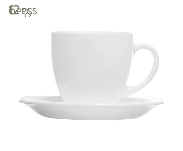 Jogo de Xícaras para Chá com Pires Carine Branco - 220ml   Westwing.com.br