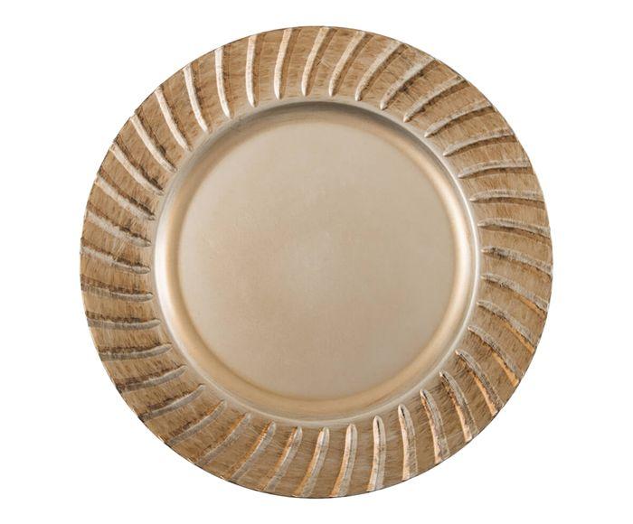 Sousplat Greco Dórico Dourado Antigo - 33cm | Westwing.com.br