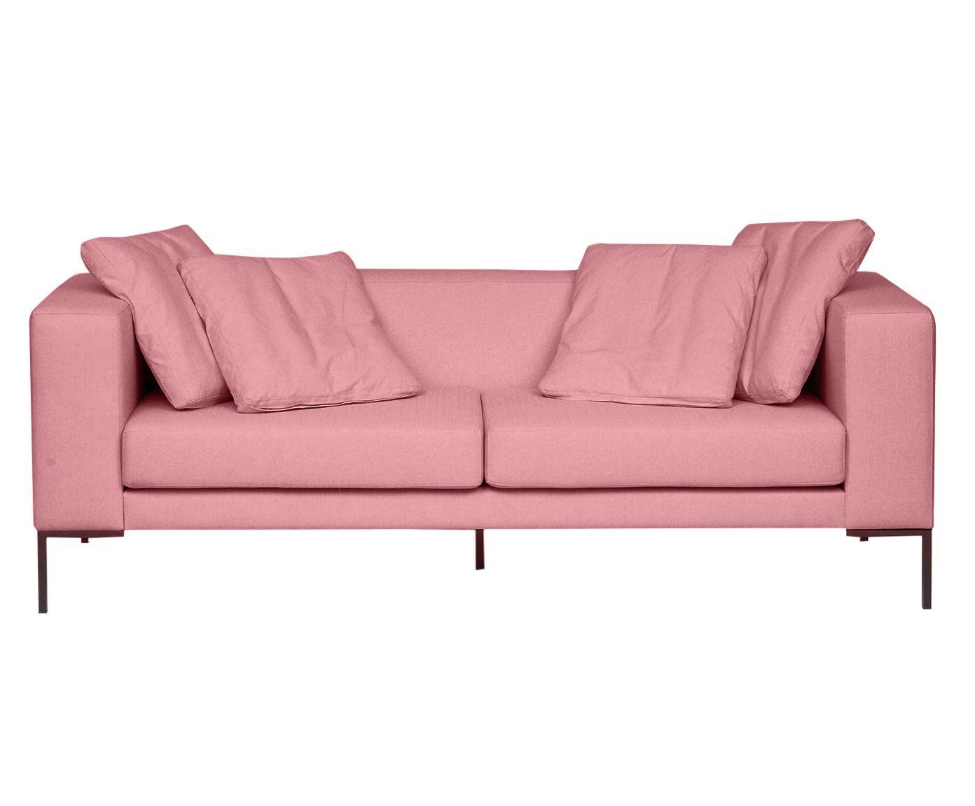 Sofá Pietro Rosa Flamingo - 210X80X82cm   Westwing.com.br