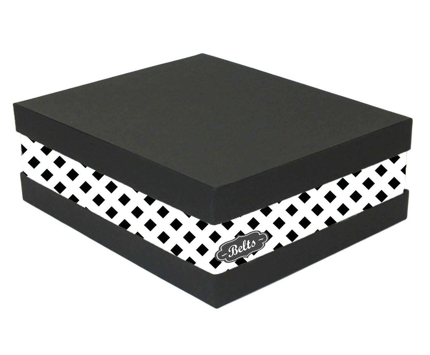 Caixa Organizadora de Cintos Eve Squares Branca - 25X11X30cm | Westwing.com.br