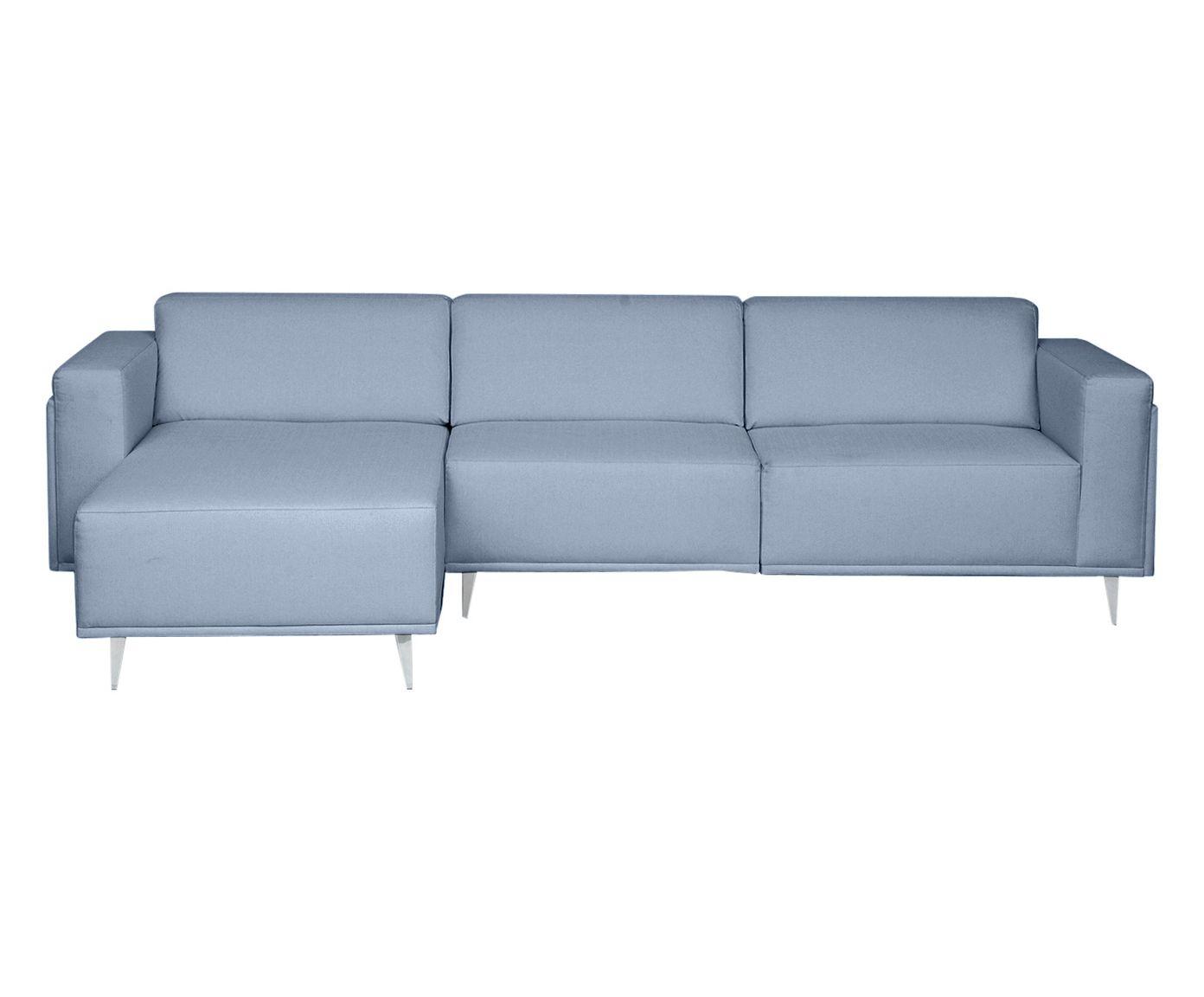 Sofá Modular com Chaise Direita Antonio Azul Nuvem - 280cm | Westwing.com.br
