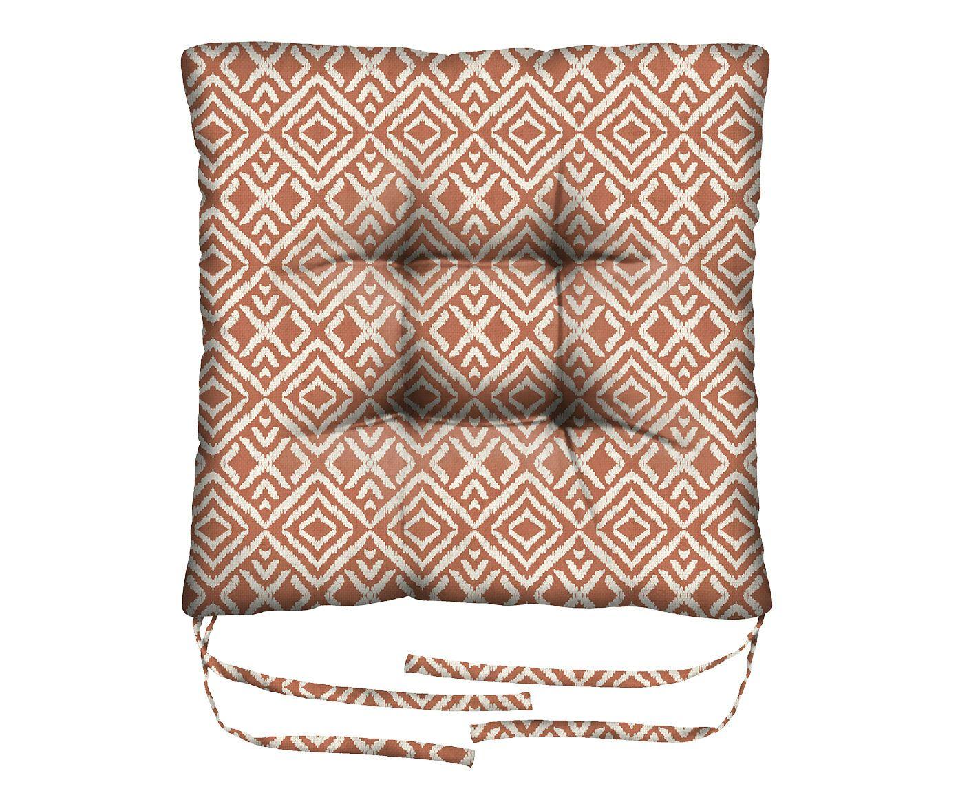 Assento de Cadeira em Linho Misto Gemini - 45X45cm | Westwing.com.br