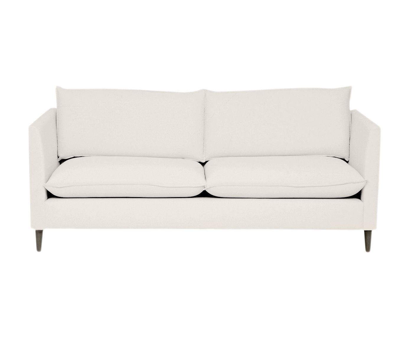 Sofá em Linho Nina Chá Branco - 180X84X82cm | Westwing.com.br
