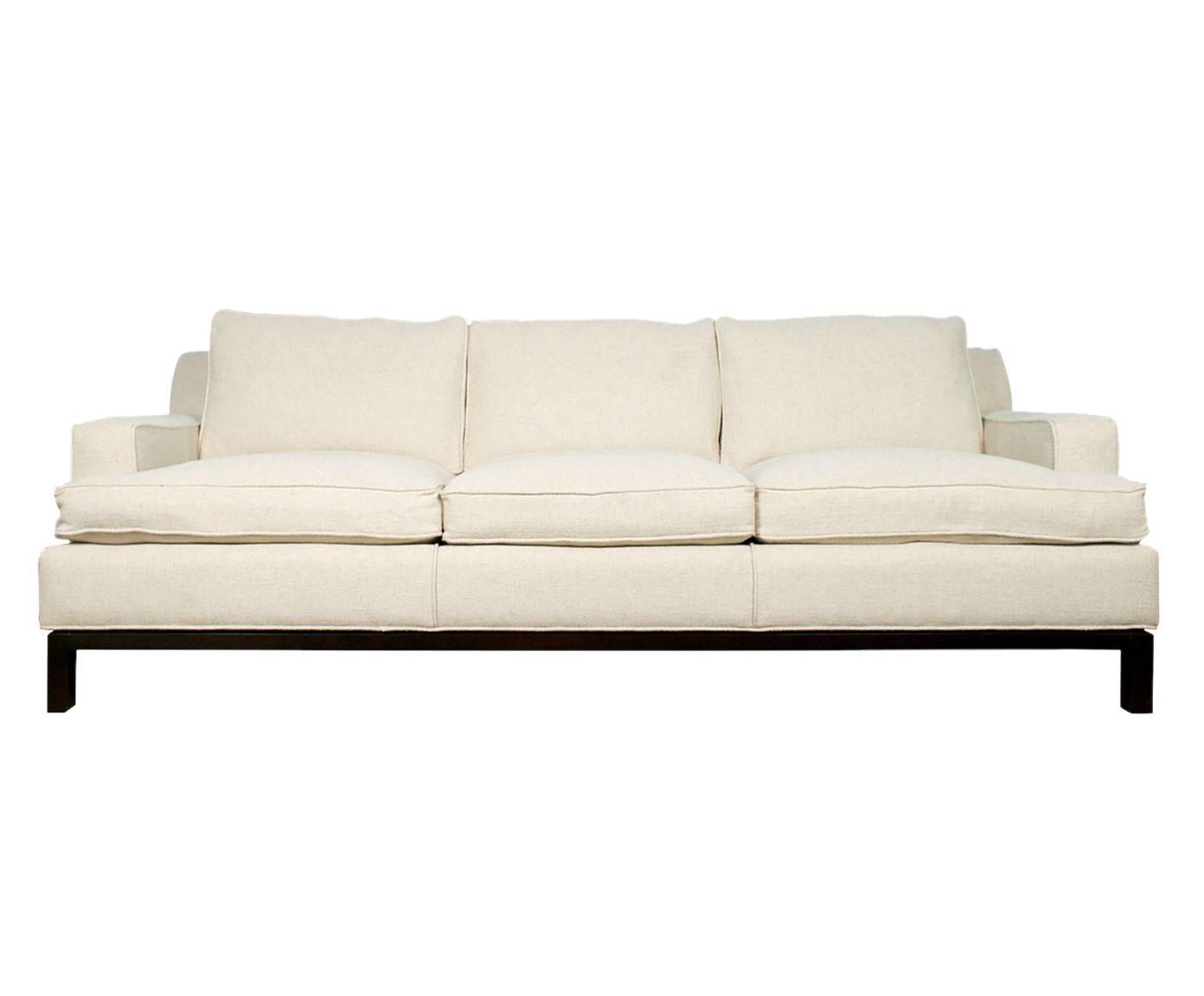 Sofá em Suede Adel Palha - 220X85X85cm | Westwing.com.br