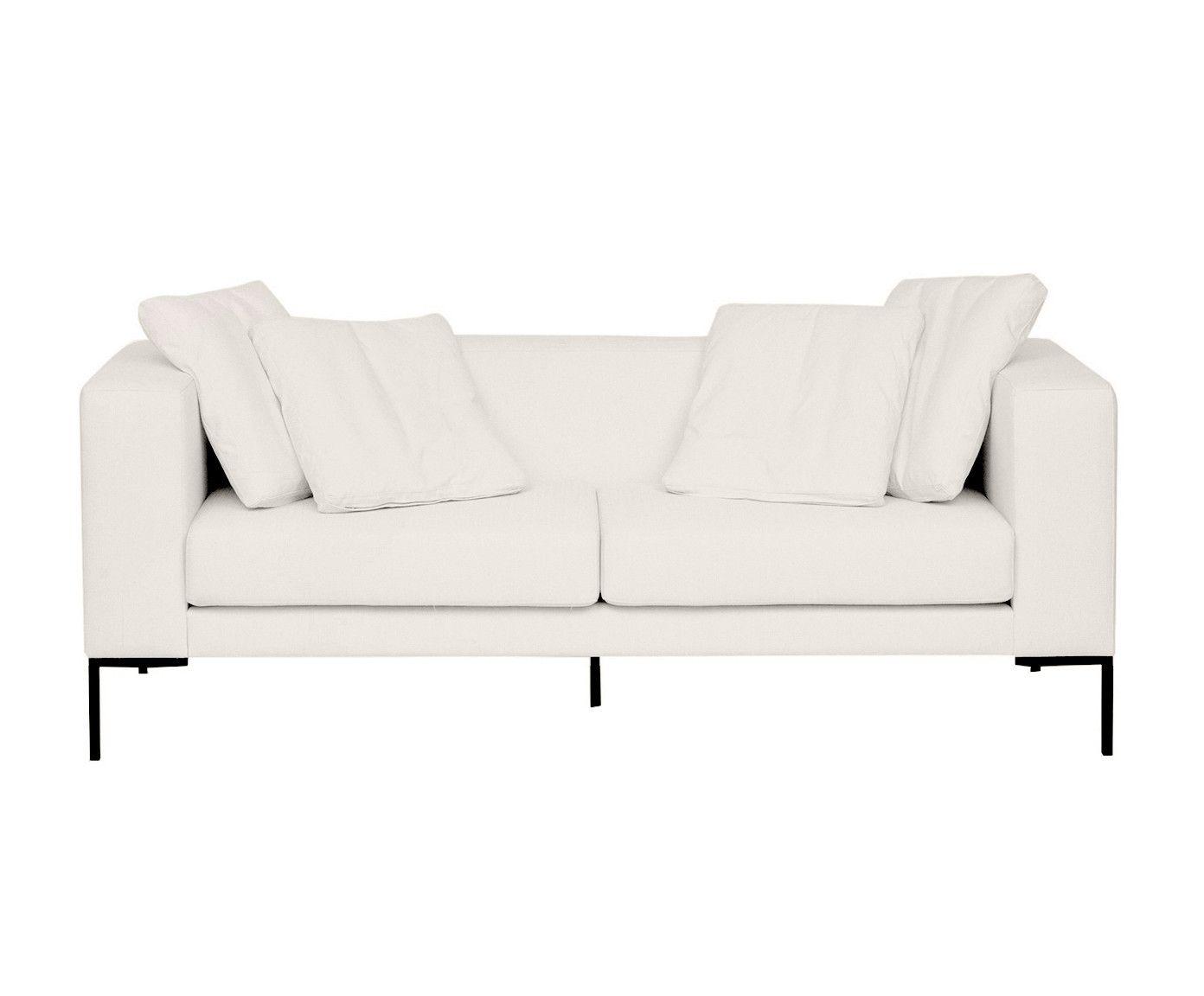Sofá em Linho Pietro Chá Branco - 180X80X82cm | Westwing.com.br