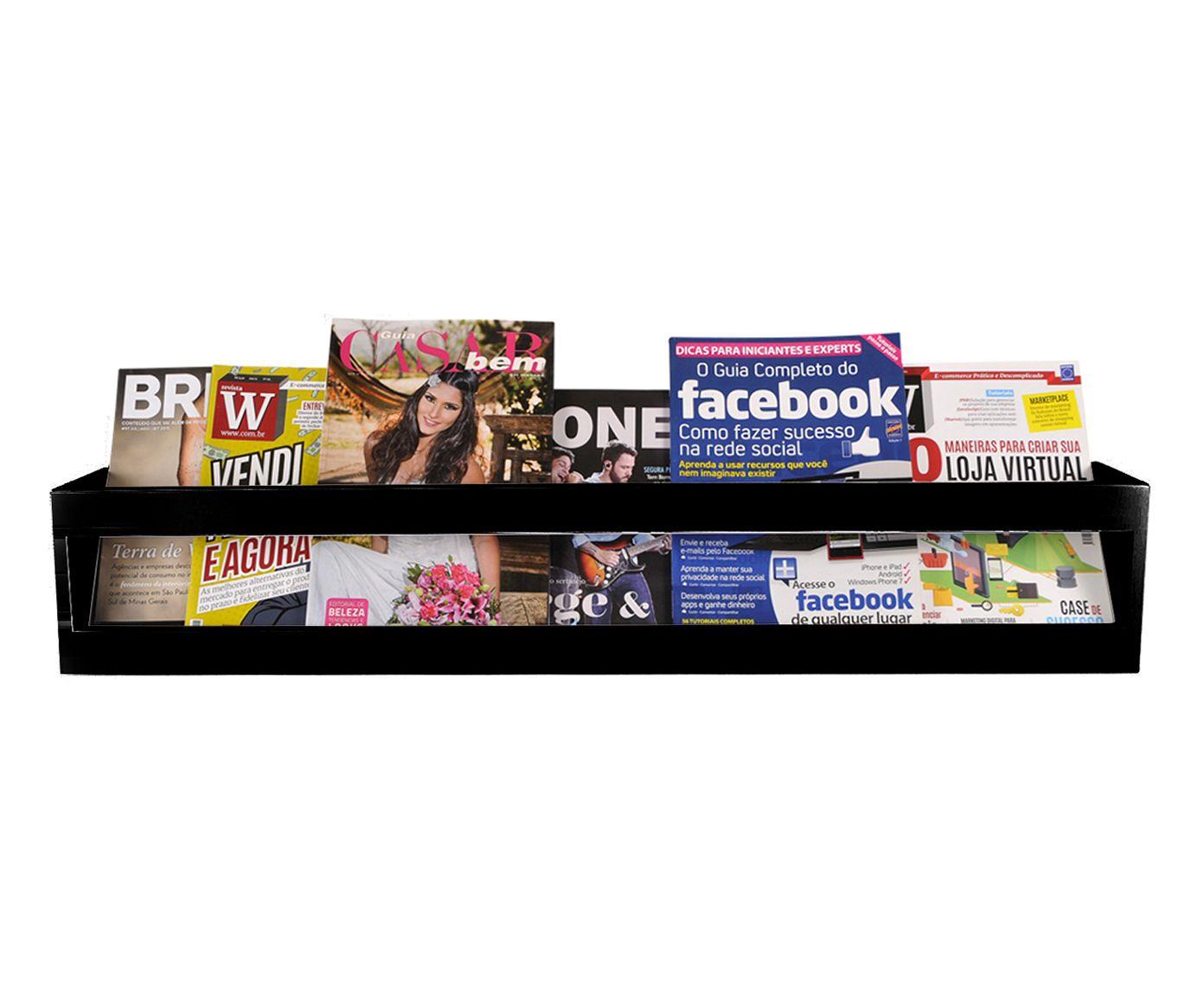 Prateleira Book Preta - 90X15X12cm | Westwing.com.br