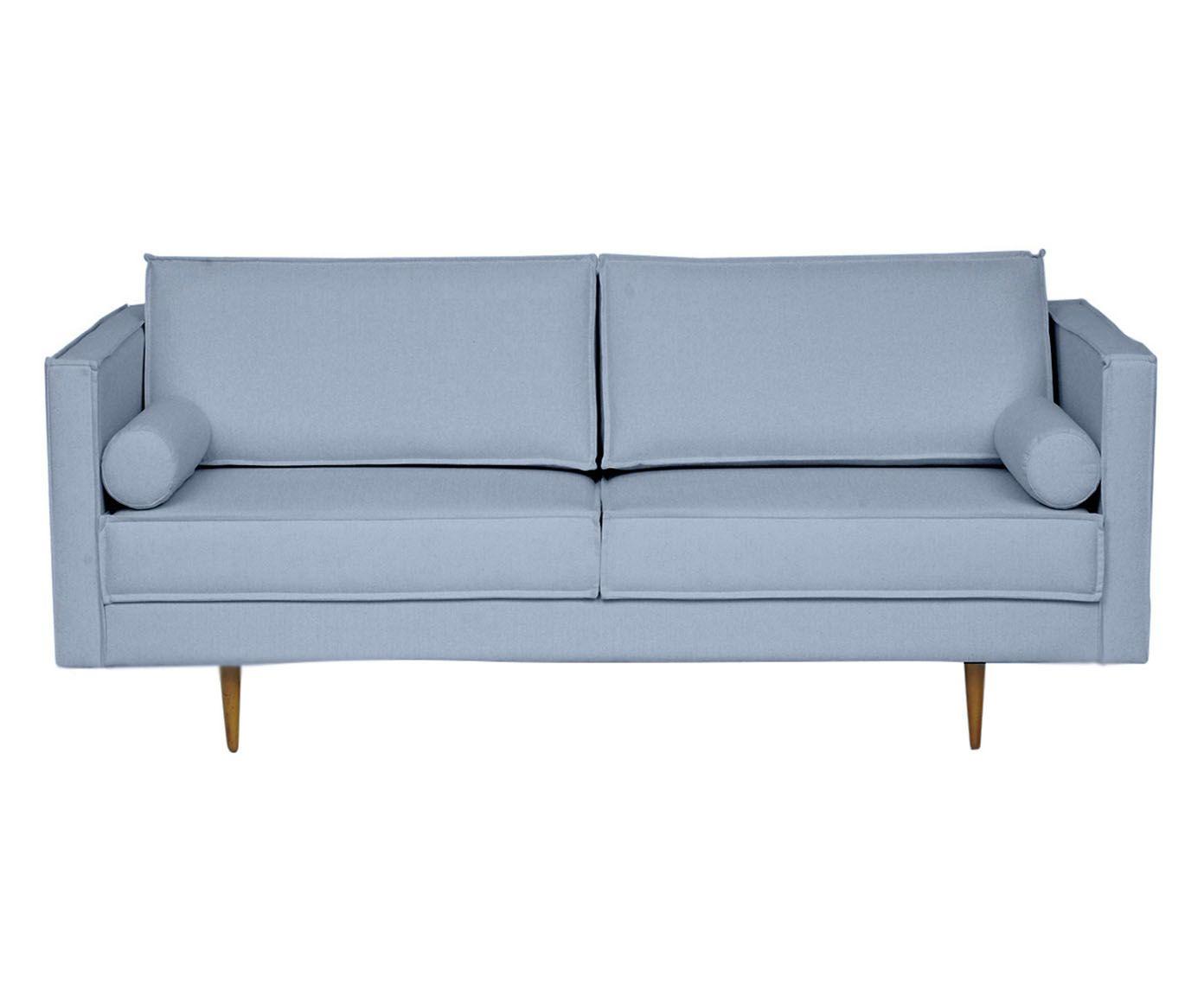 Sofá Audrey Azul Nuvem - 180X85X90cm | Westwing.com.br