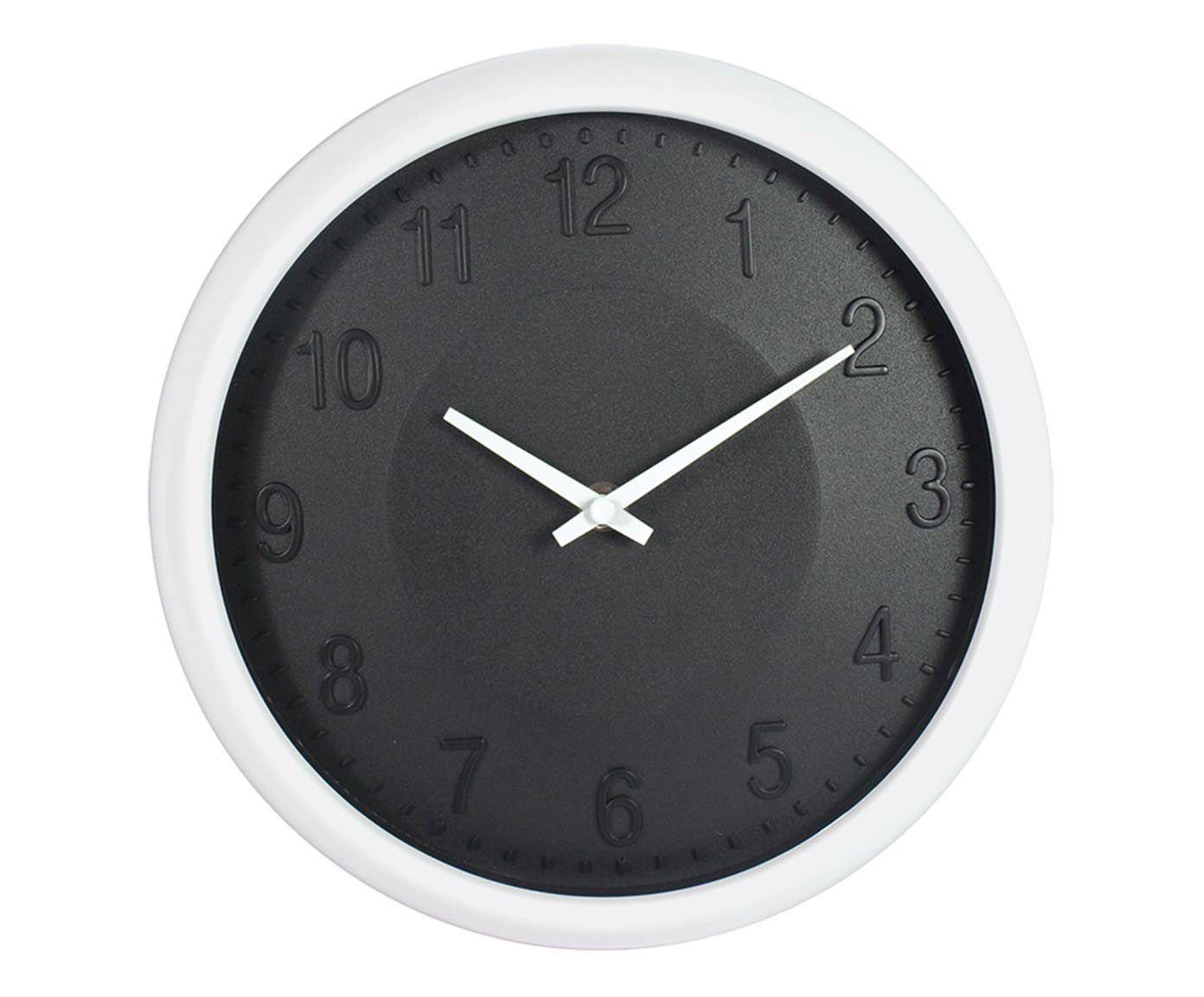 Relógio de Parede Basic Preto - 6X27cm | Westwing.com.br